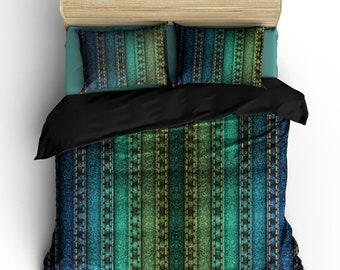 Memorial On Sale Rainbow Jeans Style Designer Bedding -Available in Twin, Full/Queen and King Size