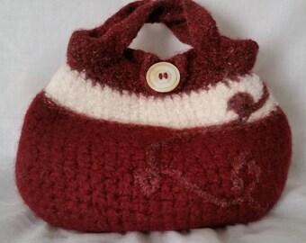 Felted wool handbag