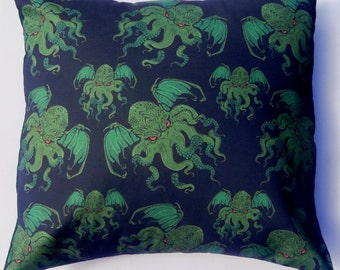 Cthulhu Fabric Filled Cushion Pillow Lovecraft - handmade by Alien Couture