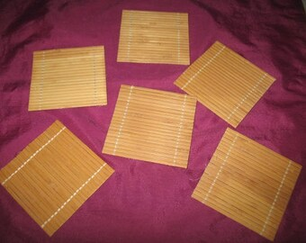 Bamboo Coasters Set of 6