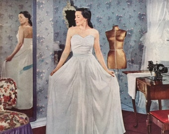 Vintage 40s Singer Dressmaking How to Sew Magazine Guide Book