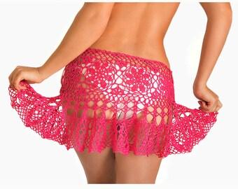 Crochet beach skirt PATTERN  PDF crochet cover up