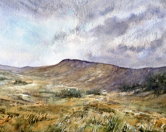 Hathersage Moor, Giclee professional print measuring 300mm x 400mm mounted and ready to frame
