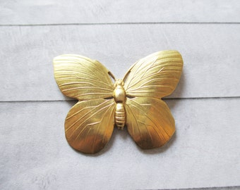 Butterfly brooch Gold Raw Brass Butterfly pin Nature Accessories Wedding Bridal Bridesmaids Gifts for her Jewelry