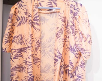 Staggered exotic blouse oversized - fits T 38 / 40 (eur)