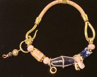 French Cross Bracelet (Blue)