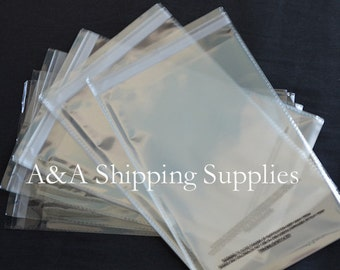 SELF SEAL 50 6x9 1.5 mil Lip & Tape Clear Poly Bags w/Suffocation Warning