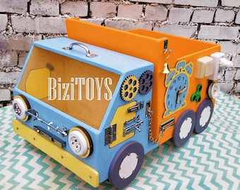Busy board Busy car  Sensory board Activity board Toddler toys Montessori Toy for autism Wooden Busy Board Tactile toy