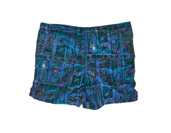 Hawaiian Swim Trunks - 90s Floral Swim Trunks - Retro Swim Trunks - 1787 kxhpmZ