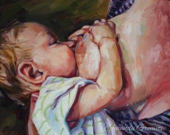 Birth Art Print - Cross-Cradle