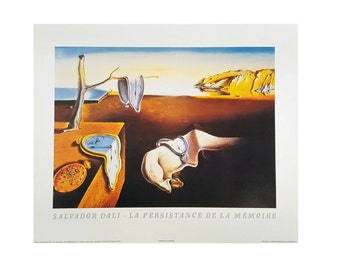 """The Persistence of Memory By Salvador Dali 8x10 Vintage Art Print. Print Alone or Framed in 1"""" black frame"""