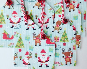 Jingle bell gift tags/ Jingle bell party favor tags