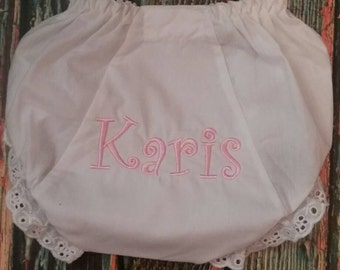 Personalized Baby Bloomers, baby girl bloomers, monogrammed baby bloomers, baby girl gift, baby girl bloomers