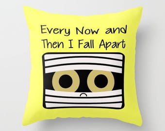 Mummy Pillow, Pillow Cover, Pillow Case, Halloween Pillow, Funny Pillow, Humor Pillow, LOL Pillow, Yellow Pillow, Cute Pillow, Halloween LOL