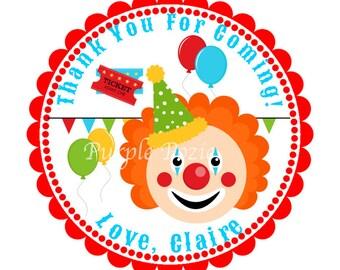 Circus Clown Labels