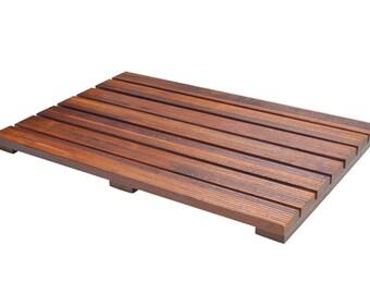 Teak Wood Bath Mat Non Slip Bathmat | For Bathroom or Shower Floor