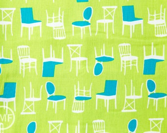Perfectly Perched Chairs in Meadow, Laurie Wisbrun, Robert Kaufman Fabrics, 100% Cotton Fabric, AWN-12851-270