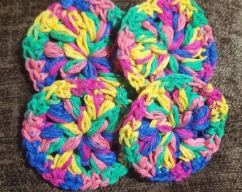MULTIPLE COLORS AVAILABLE- cotton face scrubbies