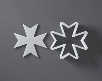 Maltese cross cookie cutter