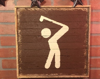 Exceptional Golf, Golfer, Golf Trail Marker, Golf Wall Art, Golf Wall Decor,