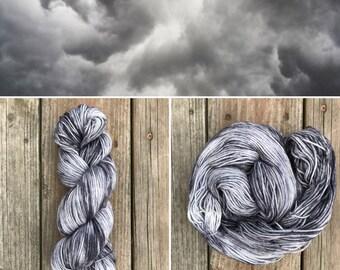 Storm Clouds Simple Sock
