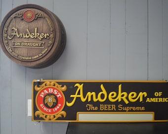 Andeker / Pabst Beer Memorabilia