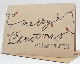 Christmas Cards - Christmas Card Set - Merry Christmas & A Happy New Year Card Pack