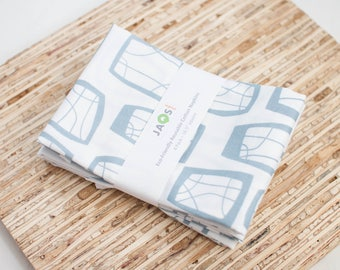 Large Cloth Napkins - Set of 4 - (N3471) - Soba Gray Modern Reusable Fabric Napkins