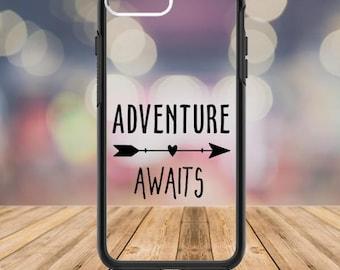 Adventure Awaits, Adventure Awaits Decal, Adventure Awaits Sticker, Arrow Phone Cover,  Love Vinyl, Adventure, Arrows, Custom Phone Case