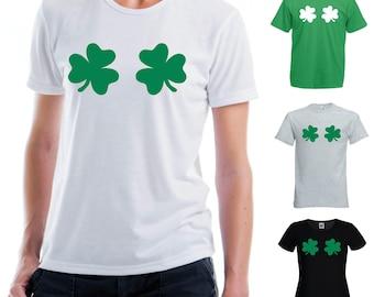 Shamrock Boobs T-Shirt, Funny, Irish, St. Patrick's Day