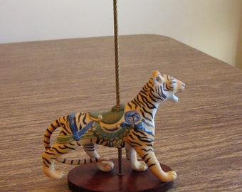"""Bengal Tiger collectible carousel figure from the Franklin Mint """"Treasury of Carousel"""" Art series"""