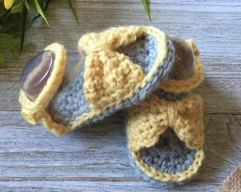 Girl Crochet Sandals; Baby Crochet Sandals; Baby Bow Sandals; Girl Bow Sandals; Toddler Crochet Sandals; Girl Shoes; Baby Shoes