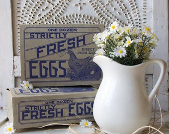 Vintage Egg Carton - 1930's - Egg Box - Farmhouse - Chicken -