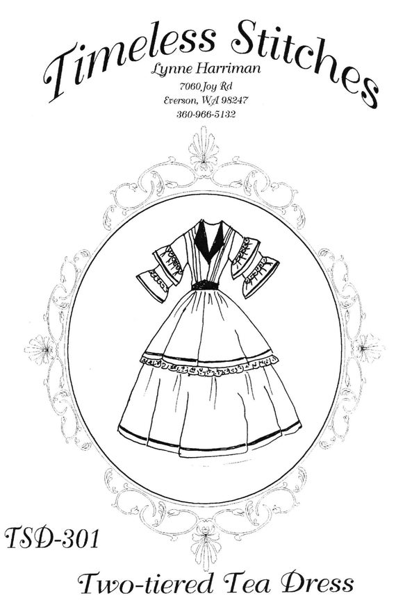 Steampunk Sewing Patterns- Dresses, Coats, Plus Sizes, Men's Patterns Two-Tiered Tea Dress /Mid- 19th Century/ Civil War Era Dress Pattern/ Timeless Stitches Sewing Pattern TSD-301 $20.00 AT vintagedancer.com
