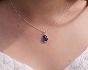 Necklace little blue Medallion