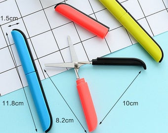 ON Sale - Safe Pen-shape Scissors - 4 colors for choice