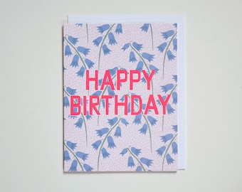 Happy Birthday Blue bells - Note Card