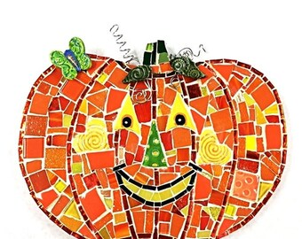 One Happy Pumpkin Mosaic