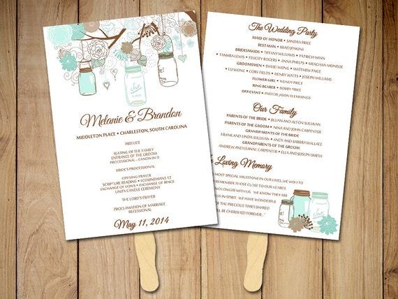 wedding fan template fan program template diy wedding