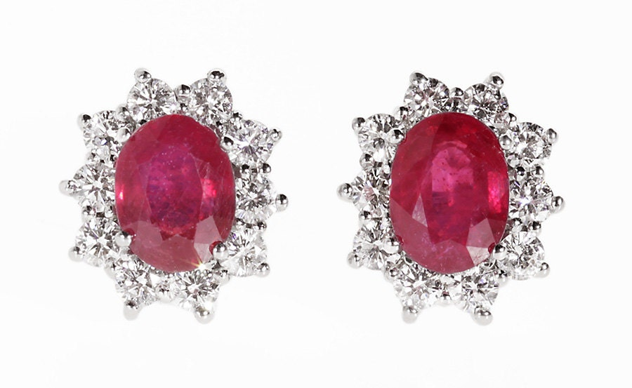 studs az bling red dreamy princess silver rb sterling stud color ruby cut jewelry earrings cz square zdc