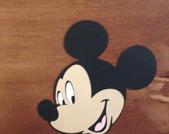 Mickey face die cut