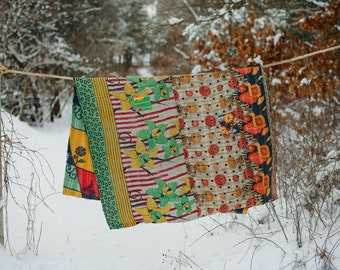 Colorful Kantha Quilt