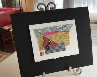 Matted Butterfly Collage Pink