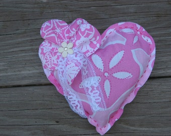Lilly Pulitzer Fabric Hand Made Sachet//Recycled Fabric// Lavender Filled Sachet//Valentines Gift