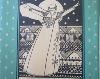 Folkwear 105 Syrian Dress Costume Sewing Pattern Size Small Average Tall 5 foot and up