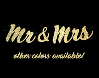 Mr and Mrs Banner, Engagement Party Decoration, Wedding Banner, Mr and Mr, Mrs and Mrs