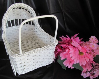 Vintage Wicker Baby Buggy - Great for Baby Shower Decorations