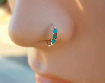 Nose hoop - Gold Filled Nose Ring - Gold Nose Hoop - Nose Jewelry - Nostril Hoop - Nose Piercing - Nose Earring - Nostril Jew
