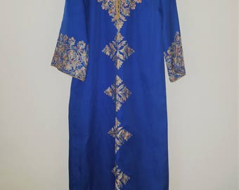 Blue Embroidered Caftan