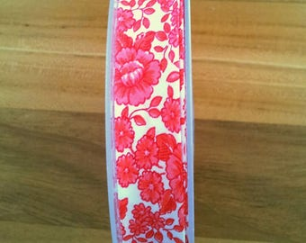 1 meter of fabric Biase tape 20 mm - red and white